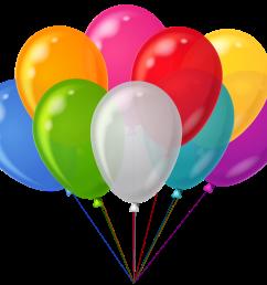 free birthday balloon clip art [ 3250 x 2922 Pixel ]