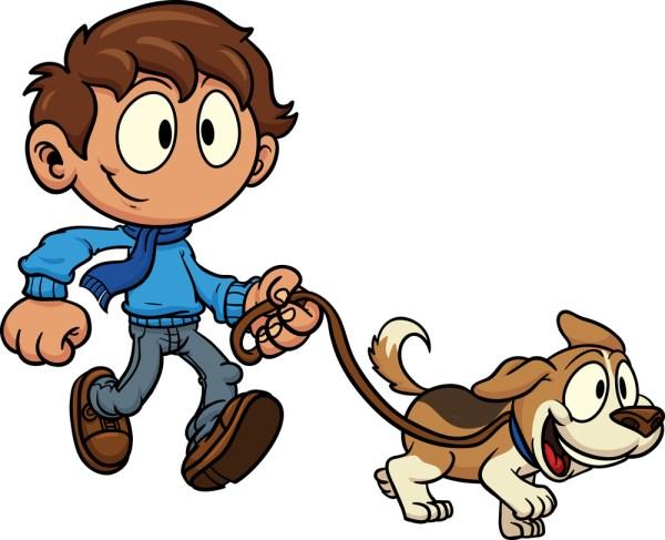 free dog-walking cliparts