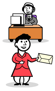 Front Desk Clipart : front, clipart, Library