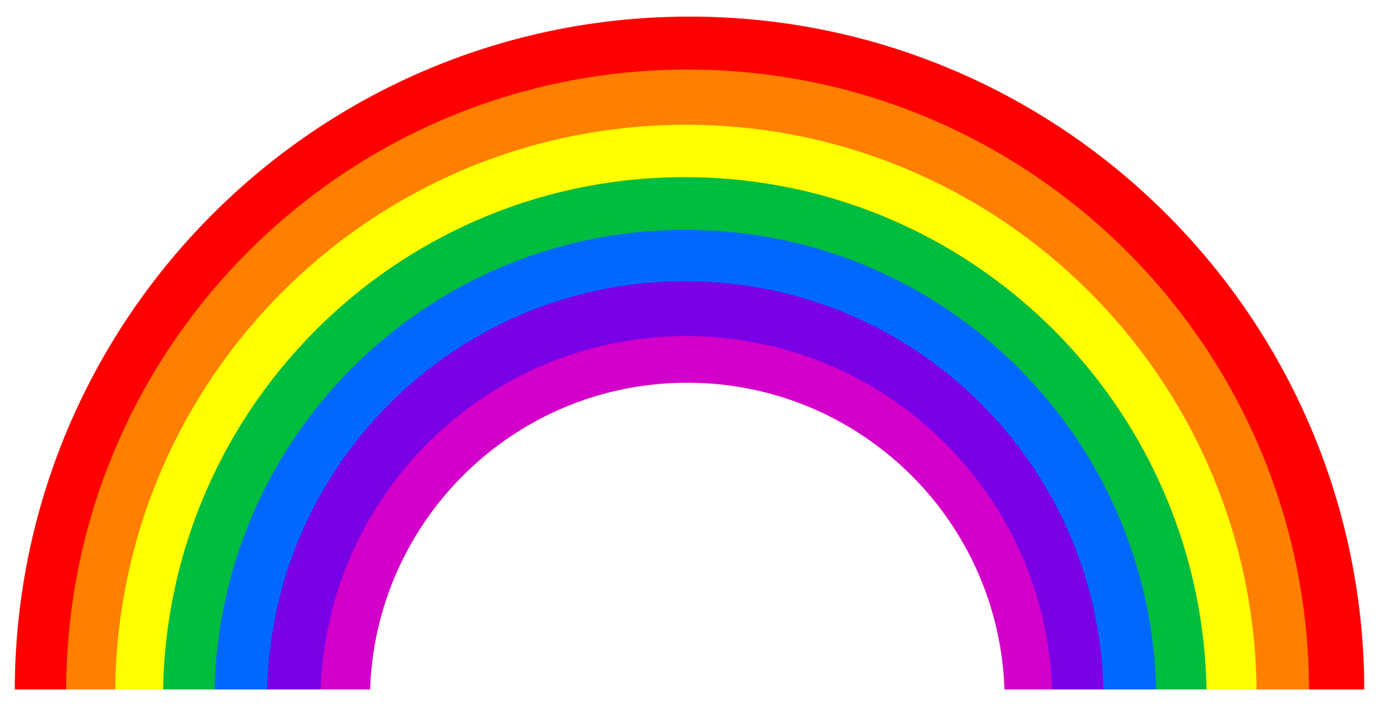 hight resolution of free rainbow clipart