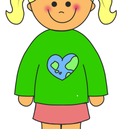 clip art of girl [ 890 x 1600 Pixel ]
