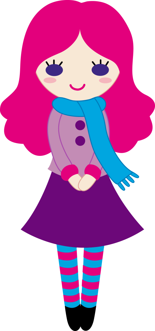 small resolution of cute girl clipart