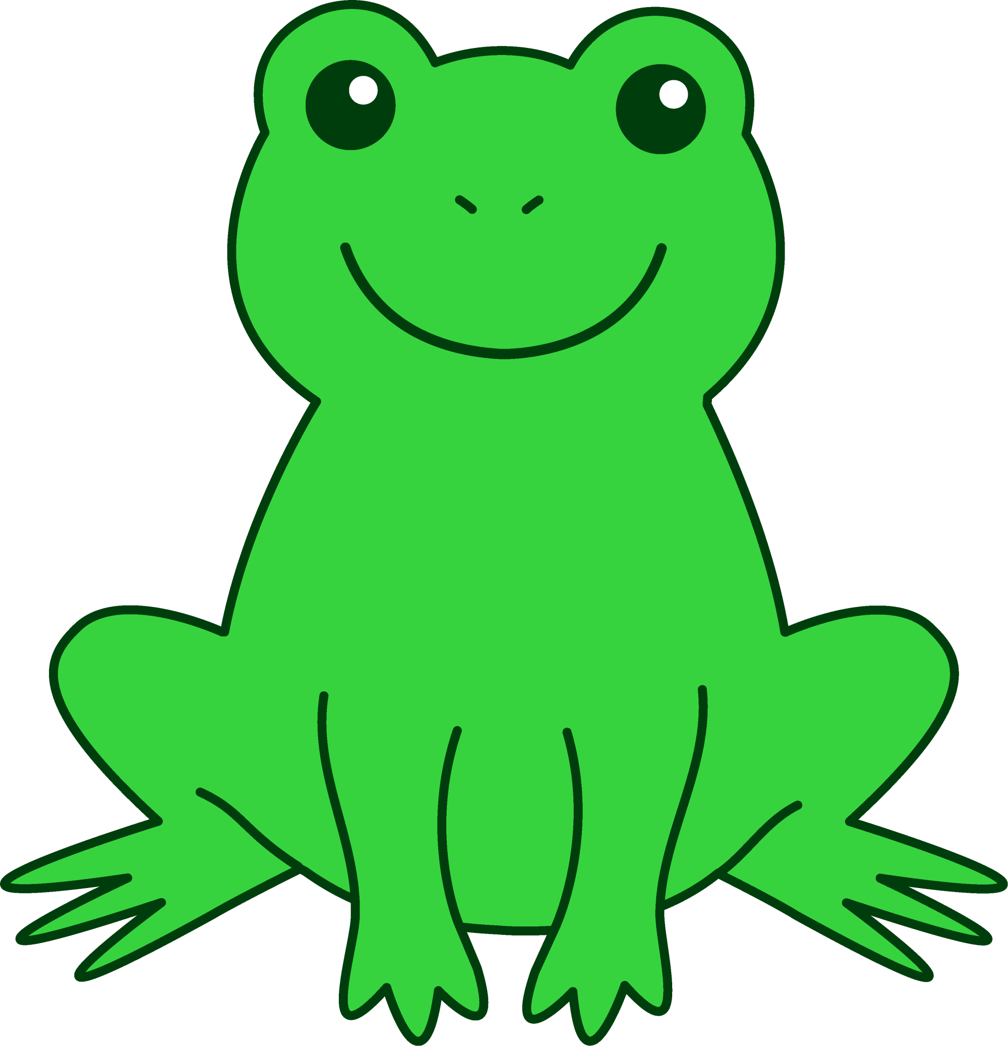 hight resolution of free cute frog clip art