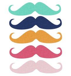 free mustache clipart [ 1500 x 1500 Pixel ]