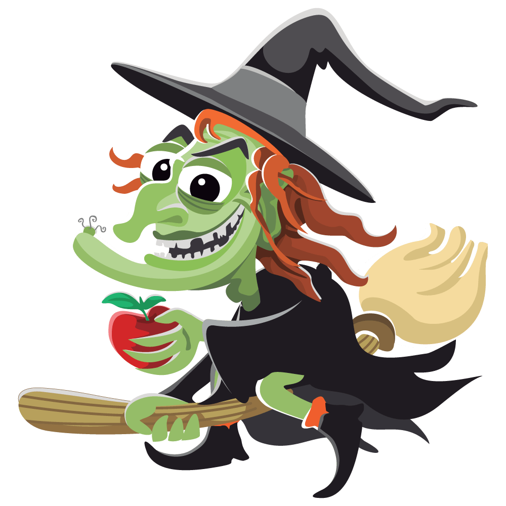 hight resolution of free witch clipart