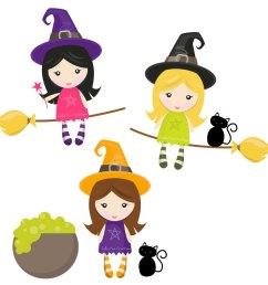 witches clip art clipart image [ 900 x 900 Pixel ]