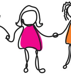 group of girl friends clipart [ 1243 x 713 Pixel ]