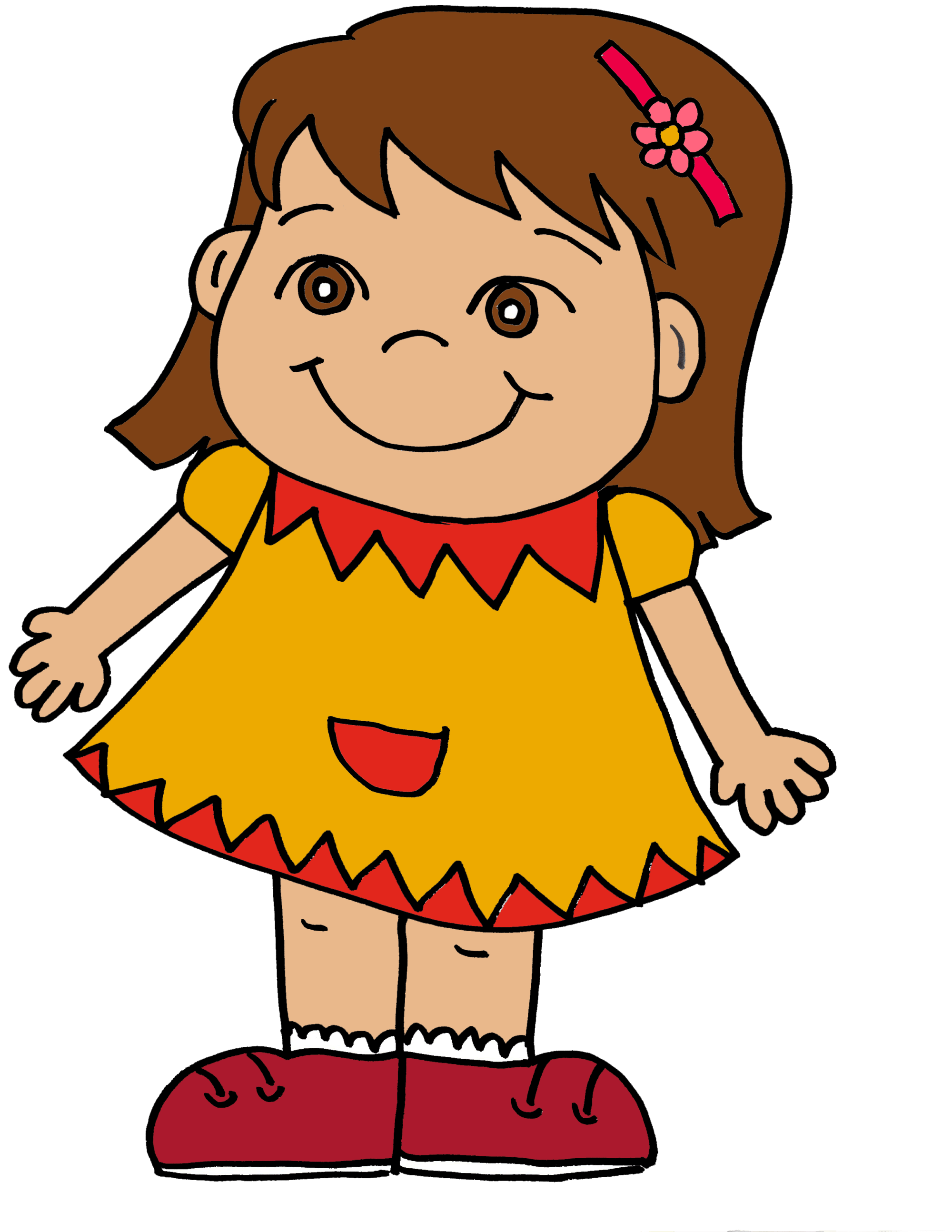 hight resolution of pink little girl silhouette clipart