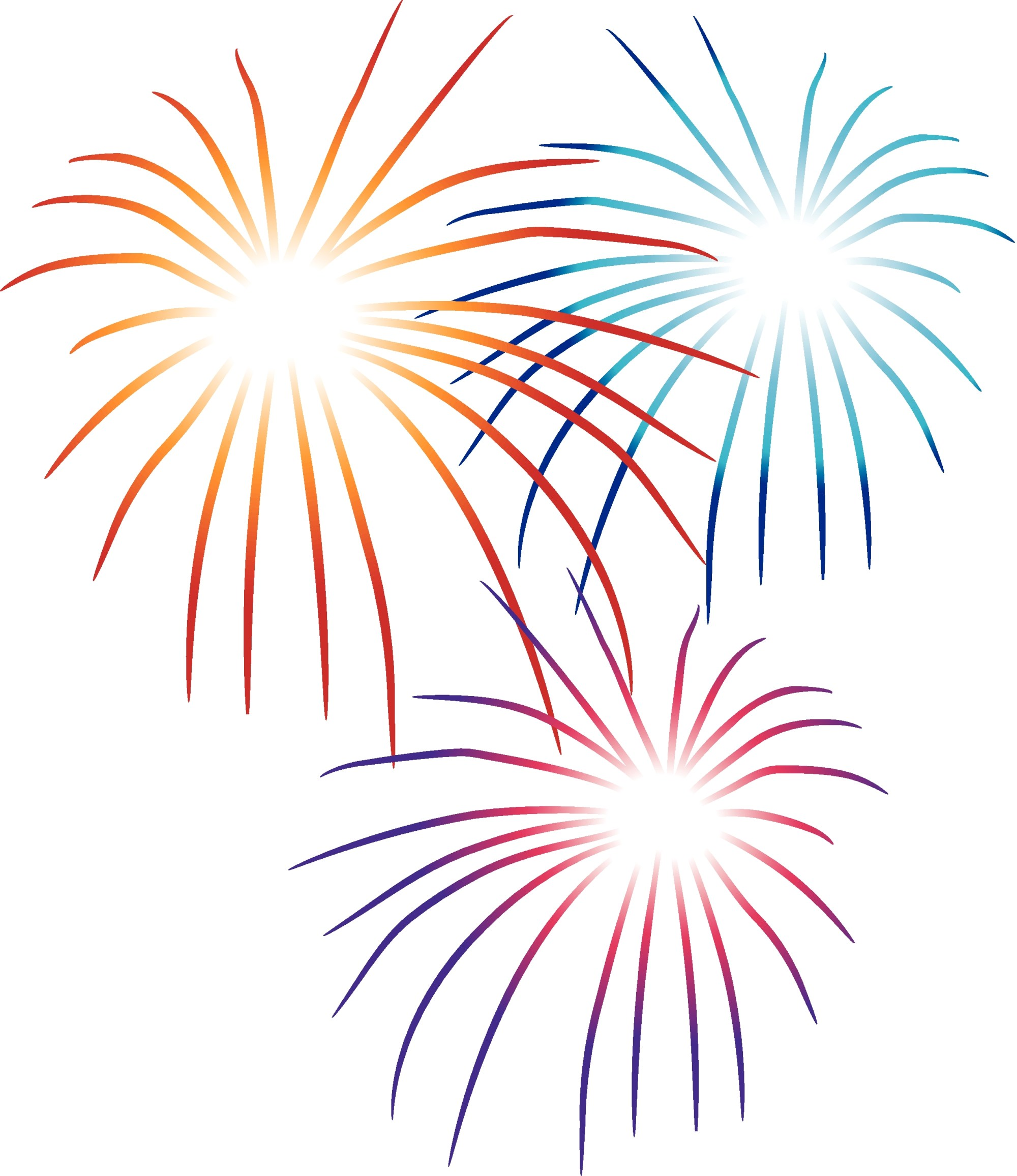 hight resolution of fireworks clipart