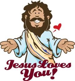 jesus love clipart [ 1664 x 1773 Pixel ]