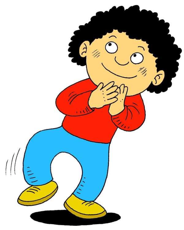 Cartoon Children Clapping Hands Clip Art