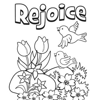 Rejoice in God Clipart