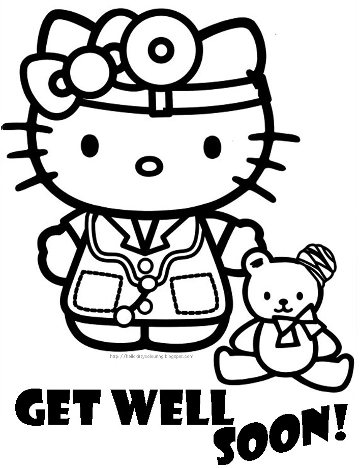 Get Well Soon Coloring