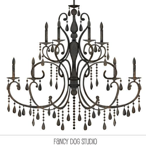 Chandelier Clipart Silhouettes Silhouette