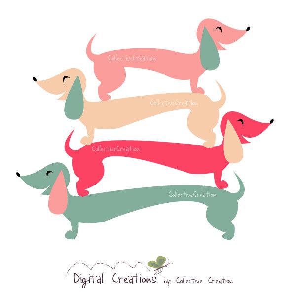 miniature dachshund clip art