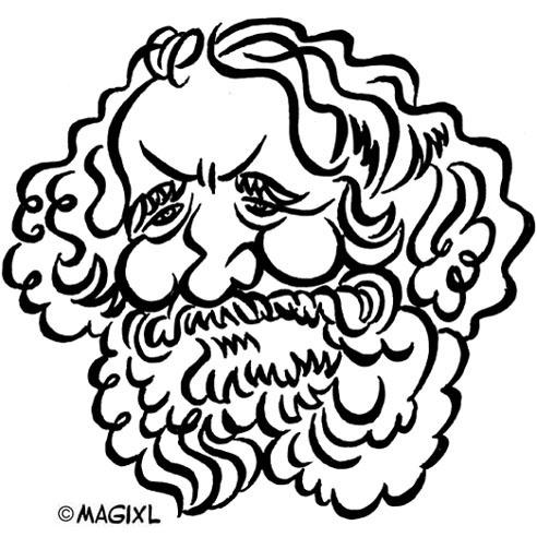 caricature clipart historical celebrities