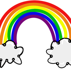 rainbow clipart for kids [ 1600 x 1200 Pixel ]