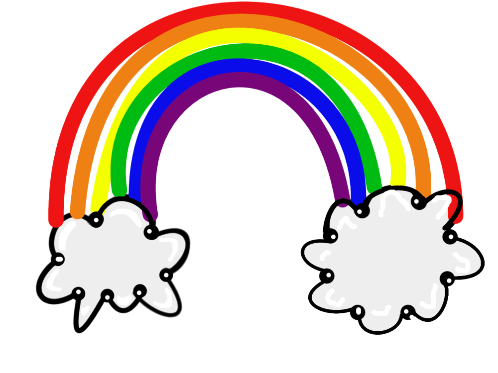 medium resolution of rainbow clipart for kids