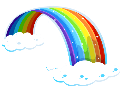 small resolution of free clip art rainbows
