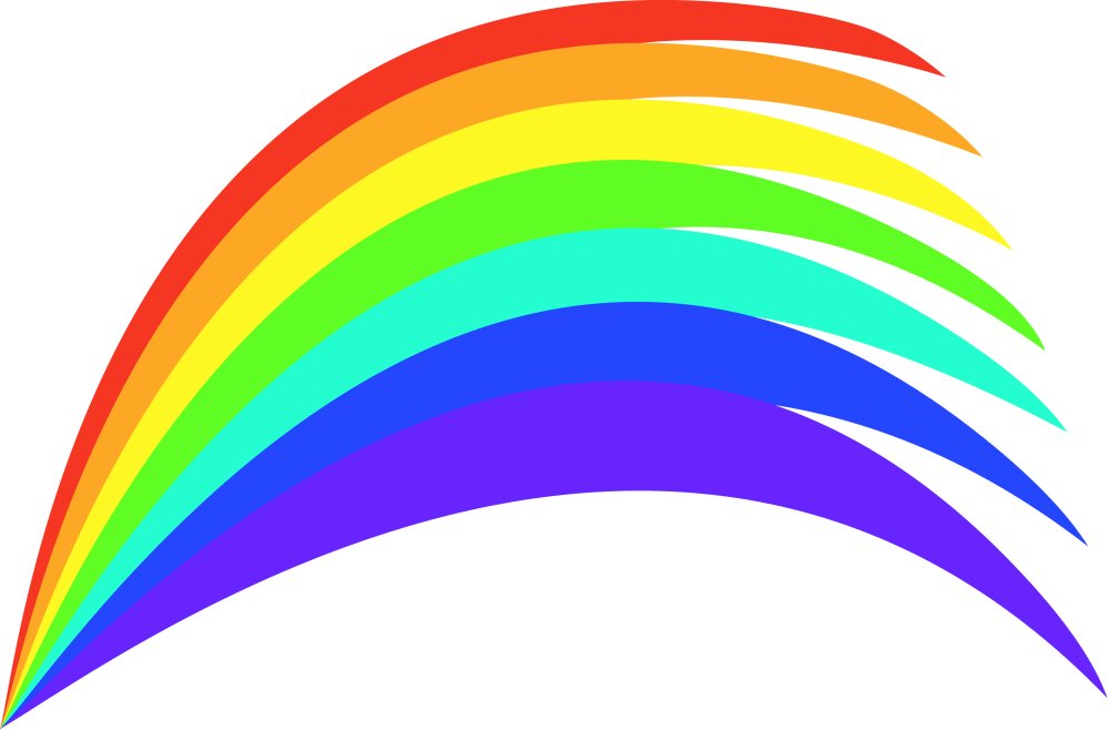 medium resolution of cartoon rainbow