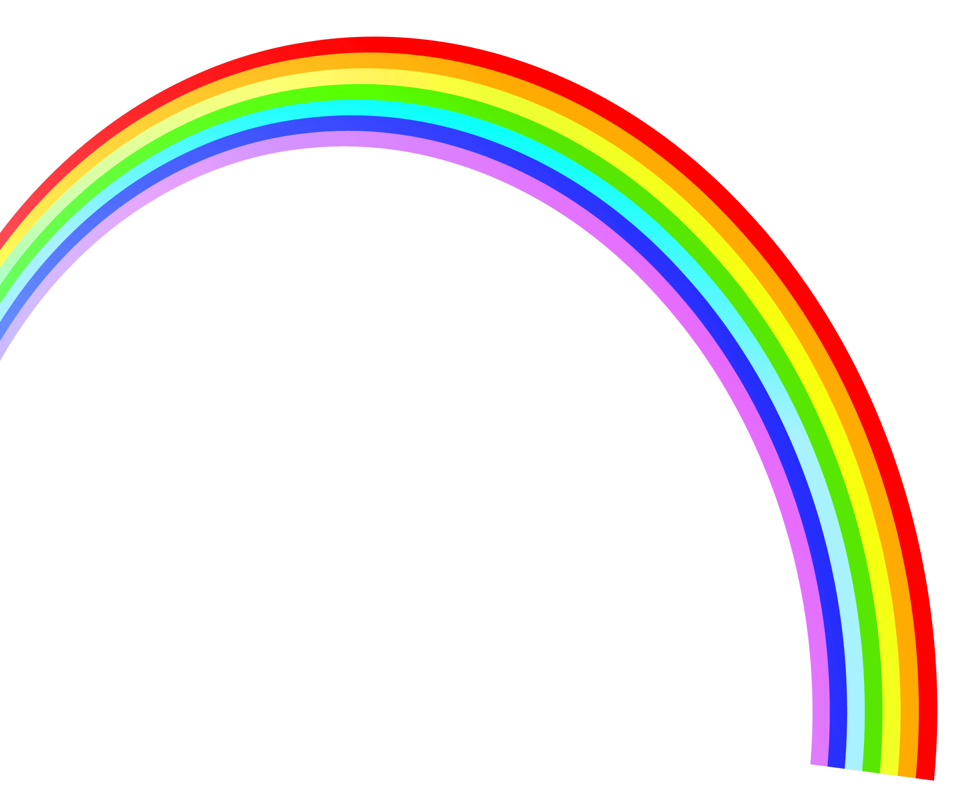 hight resolution of rainbow clipart clipart cliparts for you 4