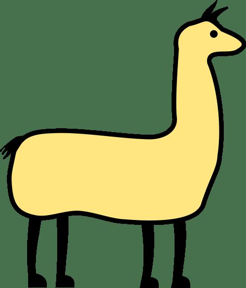 small resolution of clipart llama image