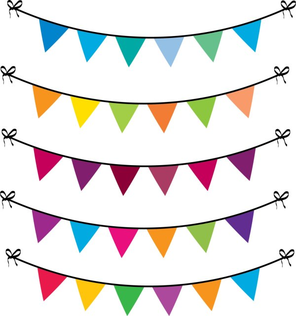Free Bunting Cliparts Clip Art
