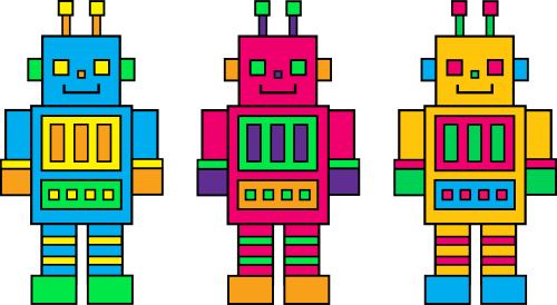 small resolution of colorful robot clip art free download