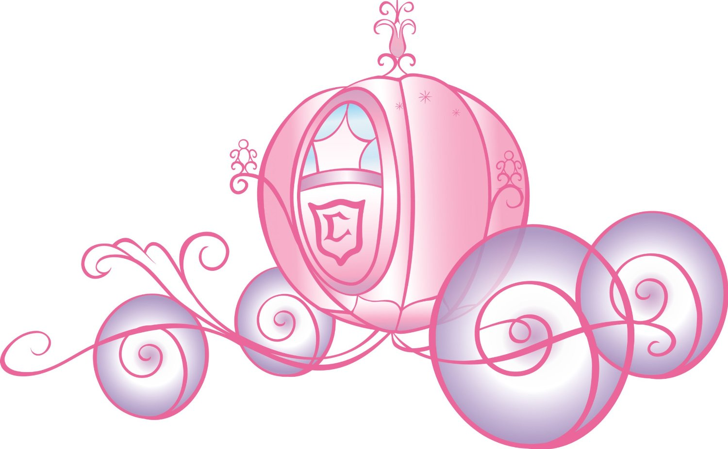 hight resolution of princess carriage clipart