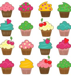 cupcake clipart free download [ 1500 x 1500 Pixel ]