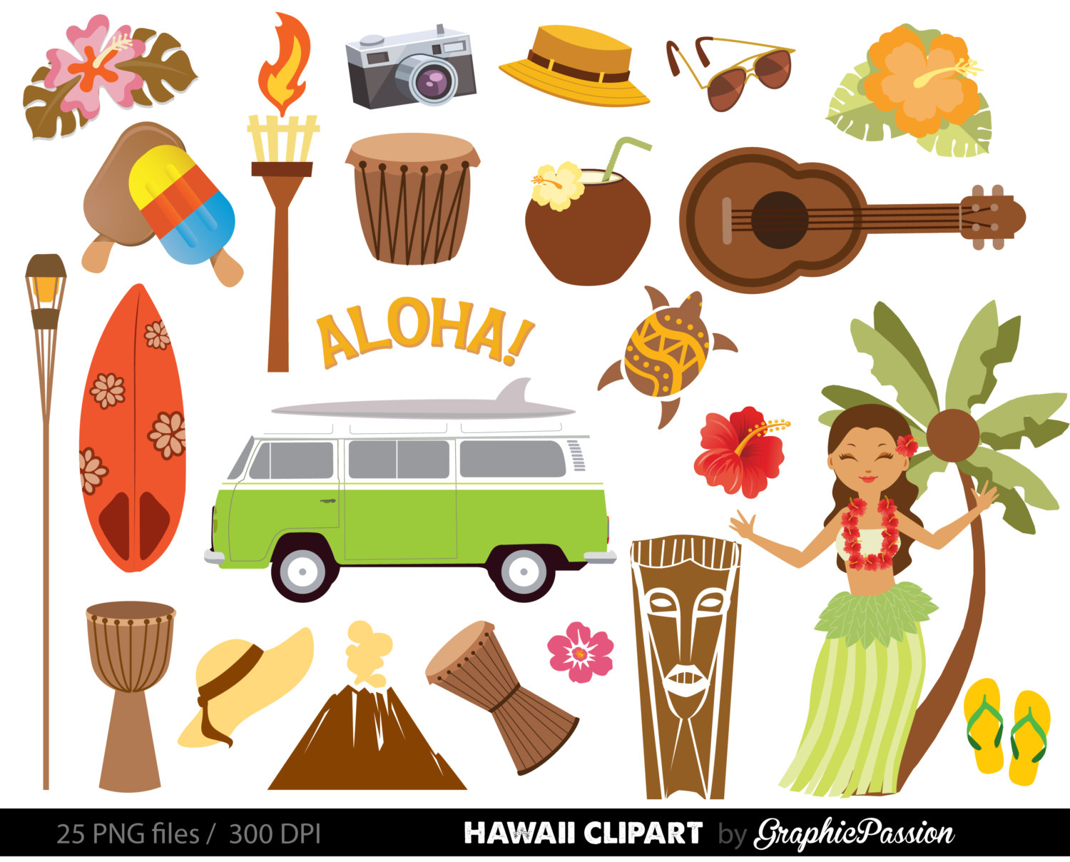 hight resolution of popular items for luau clipart