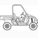 Vinyl Front Windshield for UTV Portable Front Window Side