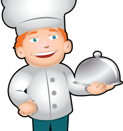 clip art of chef [ 1076 x 1554 Pixel ]