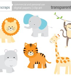baby safari animals clipart [ 1069 x 849 Pixel ]