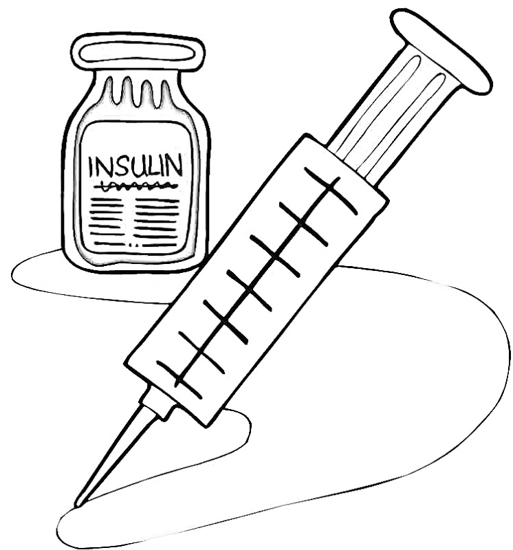 Diabetes Insulin Coloring Page