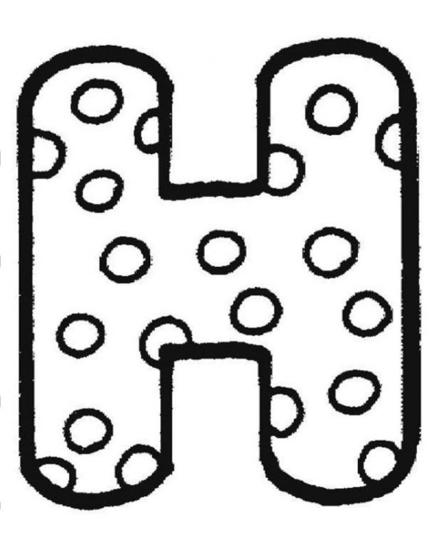 Download H In Dotted Style For Fun Alphabet Coloring Page