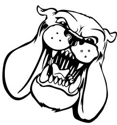 bulldog clipart black and white [ 1317 x 1317 Pixel ]