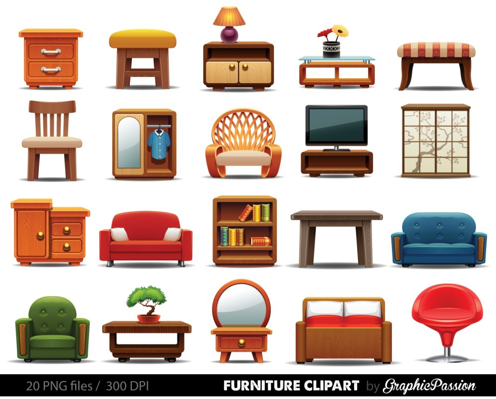 medium resolution of furniture clipart to scale