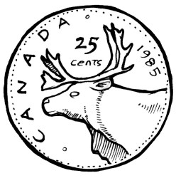 clip art canadian quarter Clip Art Library