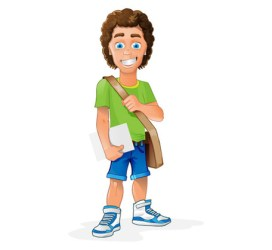 college clipart character student boy vector students male clip need early cliparts library sat colleges learn academy reading many mentoring