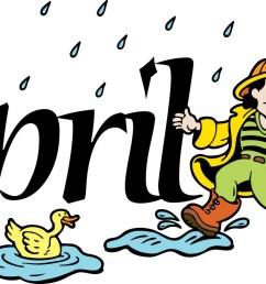 free month of april clip art clipart image [ 1600 x 813 Pixel ]