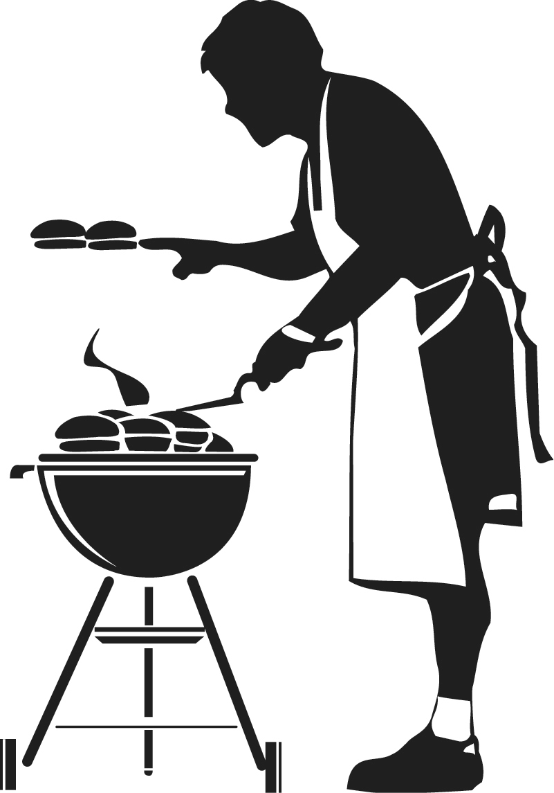 hight resolution of free grill clipart