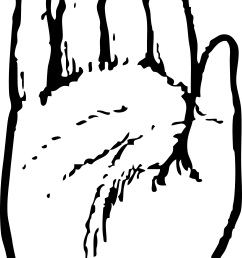 hand clipart black and white [ 1969 x 4098 Pixel ]