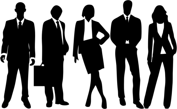 Clipart professional people silhouette
