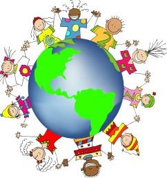 kids around the world clipart [ 1402 x 1423 Pixel ]