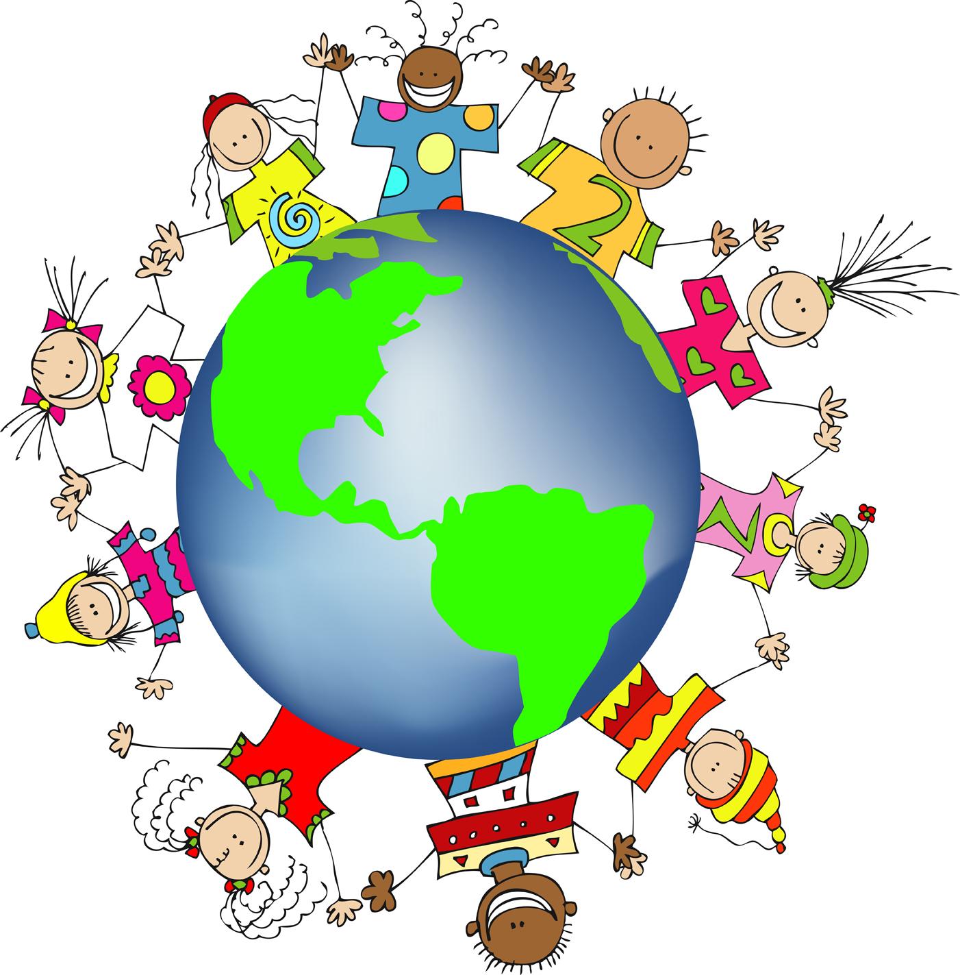 hight resolution of kids around the world clipart