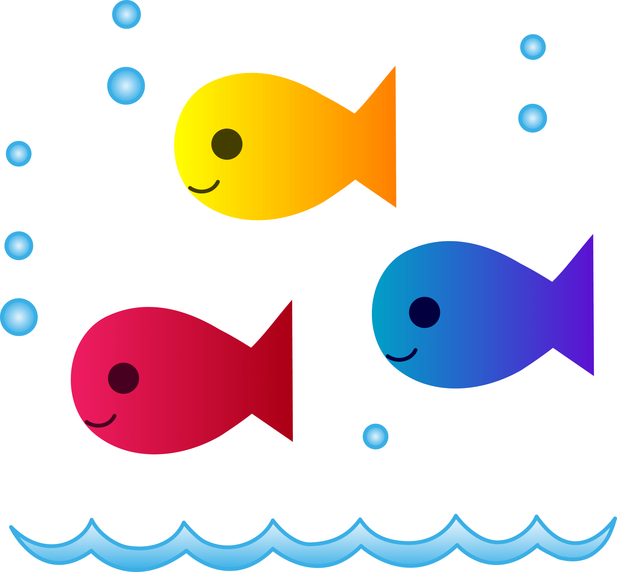 hight resolution of free swimming clipart