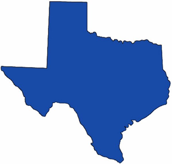 Texas State Map Clip Art