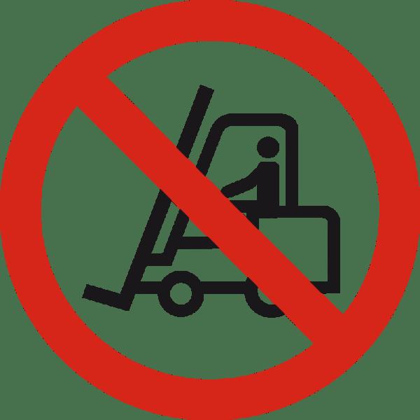 Clip Art No Forklift Signs