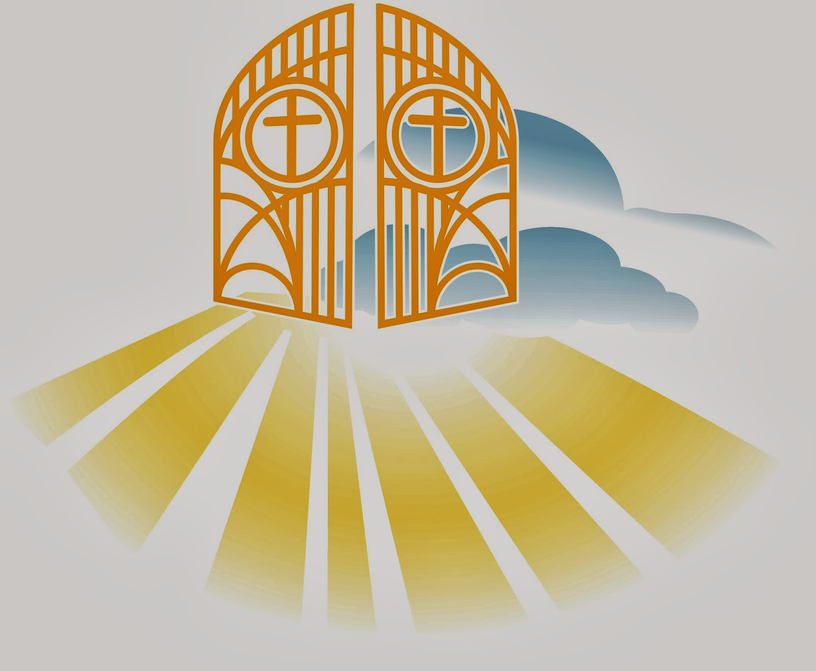 hight resolution of heaven pearly gates s clipart